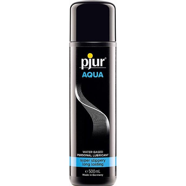 Pjur Aqua Glijmiddel - 500 ml van het merk Pjur - Glijmiddel op Waterbasis - online kopen bij Masculum.nl. De discrete online seks-toys en erotisch heren ondergoed winkel voor gay & hetero mannen.
