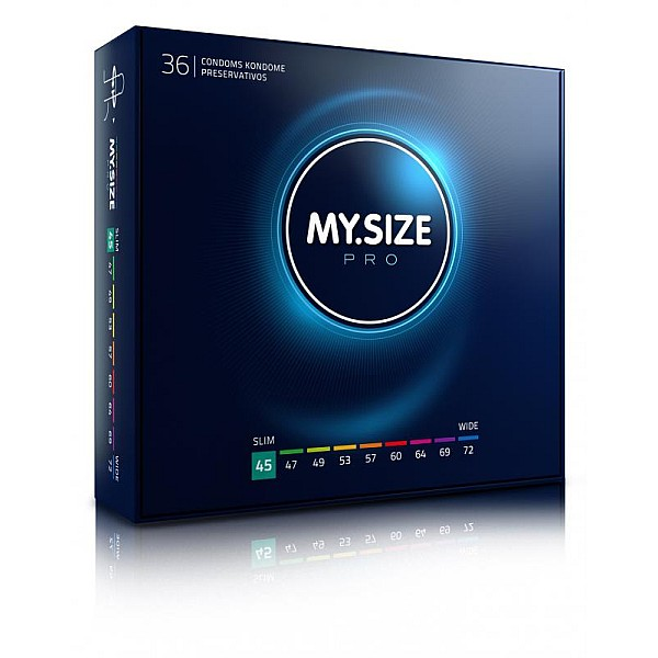 MY.SIZE Pro 45 mm Condooms 36 stuks van het merk My.Size - Ultra Dunne Condooms - online bestellen bij Masculum.nl. De discrete online seks-toys en erotisch heren ondergoed winkel voor gay & hetero mannen.
